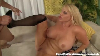 Voluptuous MILF Has Sex With Step-son! Young bed