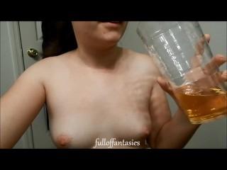 REAL Amateur Piss Drinking ♥ FullOfFantasies