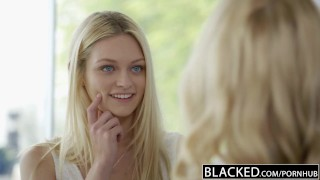 Preview 1 of BLACKED Blonde BFFs Cadence Lux and Alli Rae Share a huge BBC