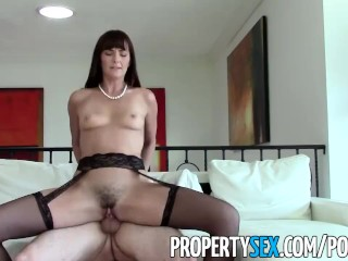 PropertySex – MILF real estate agent fucks client pretending to buy house