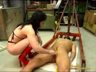 Rimi sen hot scene hangings slaves dick with a motor hoist kink rough femdom fetish bdsm