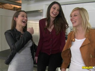 Kitchen and shower: dani daniels,hayden hawkens and rilee marks