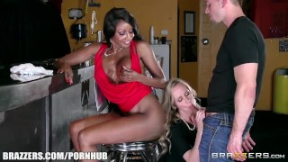 Ebony ivory threesome and brazzers anal cock bubble