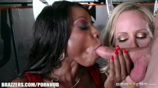 Ebony and ivory, anal threesome - Brazzers Mmf interracial