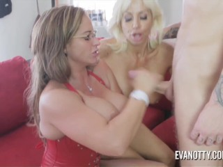 Her Amazing Ass Fucking, Eva Notty and Tara Holiday fuck the cable guy