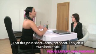 FemaleAgent. Strap on fuck makes busty brunettes big tits bounce  strap on big tits agent raven hd audition sexy amateur femaleagent casting busty hardcore orgasms office lesbian reality czech big boobs