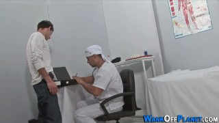 Uniformed doc cock jizzed Colby big