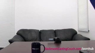 Blonde Anal Queen Assfucked and Creampie on Casting Couch Blonde step