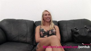 Blonde Anal Queen Assfucked and Creampie on Casting Couch porno