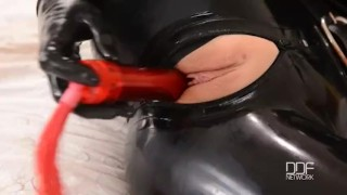BDSM Sex Goddess Latex Lucy Masturbates till Orgasm  big ass big tits high heels masturbation enhanced tits houseoftaboo bdsm masturbate pussy gape butt latex orgasm sex goddess big boobs pinky gothic