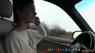 Preview 5 of Girlfriends Cute girls explore lesbian fantasy on road trip