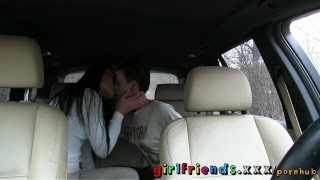 Preview 6 of Girlfriends Cute girls explore lesbian fantasy on road trip