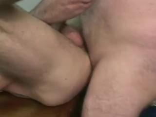 Double dildo girl and men
