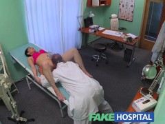 FakeHospital Doctors cock persuades sexy patient not to have operation