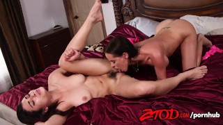 ZTOD Brandy Aniston and Raven attack each others pussies