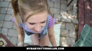 MyBabySittersClub - Petite Baby Sitter Caught Masturbating Cumshot view