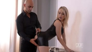 Submissive blonde Chessie Kay gets cuffed and creamed Bdsm vibrator