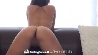 CastingCouch-X - Sexy Gabriella Ford gives latin beauty thick cock Doggystyle brunette