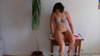 Hairy College Girl Masturbates Her Dripping Wet Pussy to Throbbing Orgasms Small sensual