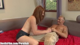 DevilsFilm Redhead Babysitter gets Anal from Daddy