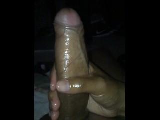 Bid juicy oily dick in slow motion