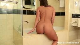 Sexy Abigail takes a bath