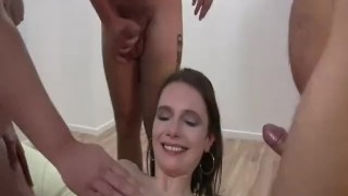 gang bang fist fucked young amateur slut