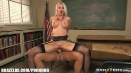 GIgi Allens deepthroats her students cock - Brazzers