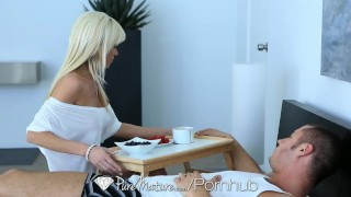 PureMature - Hot blonde Mikki Lyn gets covered in cum
