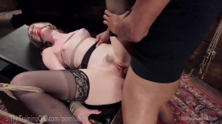 Bondage Slave Gets Every Hole Filled Tits whipping