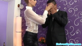 Classy euro femdom gives an extreme sloppy bj  babe femdom blonde boss bigtits european deepthroat facial ballbuster glamcore portugese storyline natural tits classy gorgeous sloppy blowjob elegantraw shorthair