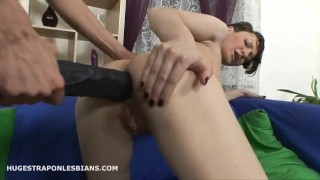 Olga punishes Sarah with a huge strapon anal dildo  strap on lesbian strapon anal ass fuck rough lesbian sex huge strapon anal punishment lesbian strap on huge strapon anal strapon rough anal anal gape adult toys girl on girl huge strap on strapon anal lesbian strapon