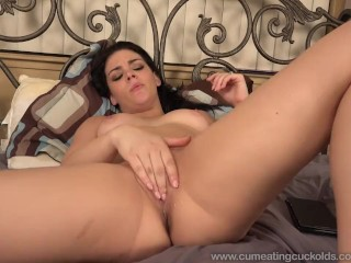 Pak Girl Sex Com Kimber Woods Receives A Pounding While Husband Watches And Eats Up Cum,