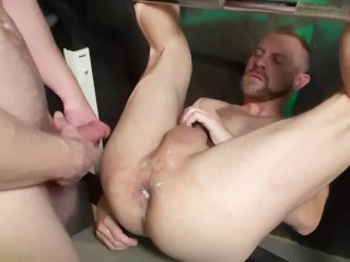 Threesome Employees Abusing Their Boss By Assfuck Fisting