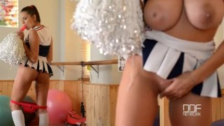 Preview 4 of Busty Pornstar Cheerleader