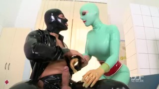 Latex Lucy has a huge Orgasm in clinic fuck session  doggy style big tits dominatrix enhanced tits houseoftaboo reverse cowgirl blowjob ball licking hardcore kink latex fingering big boobs ddfnetwork cum in mouth