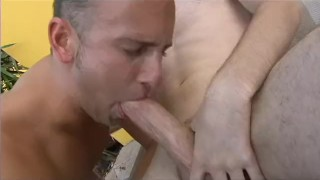 Dry him  suck scene cum sucking