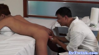 Barebacks ethnic twink doctor raw toy