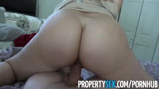 PropertySex - Big ass Latina realtor tricked by perv into making sex video Sex eating