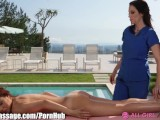 Masseuse MILF Seduces young girl Dillion Harper