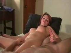 Horny couple mutual masturbation