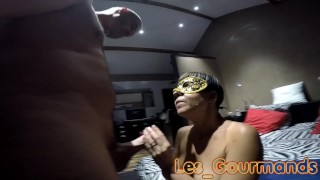Blowjob, Dogging & Cumshot with new mask
