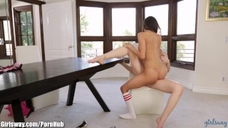 Punished squirting naughty schoolgirl and latina on teacher