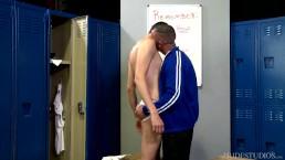 Cock Virgins Twink Fucked By Coach in Locker Room
