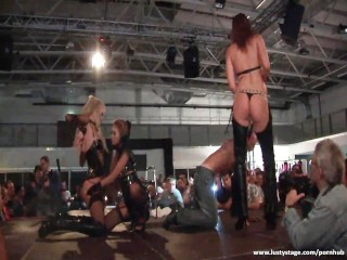 Redtube Henai Amazing Babes Performing On The Stage, Babe Fetish Red Head Threesome
