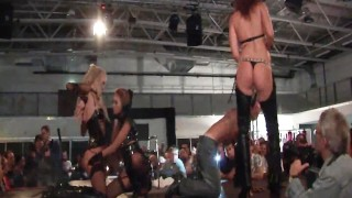 Amazing babes performing on the stage