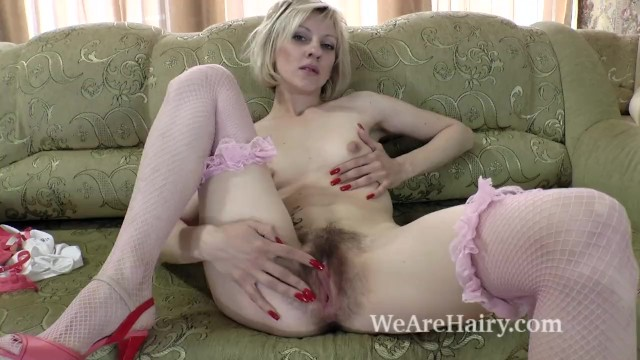 Small breasted striptease Sandy may is all natural and orgasms after playing