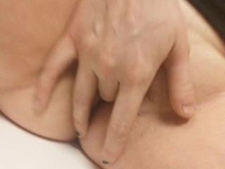 FRISKY BUSINESS- fingering my wet pussy at work