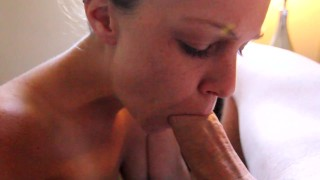 Facialized After POV Blowjob, 11 Cumshots, Deepthroat & Ball Sucking In HD!