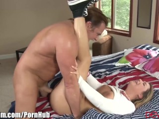 Teen Jenna Ashley gets Facialed by Older Cock